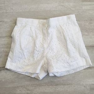 JANIE & JACK white shorts  Size 18-24 months